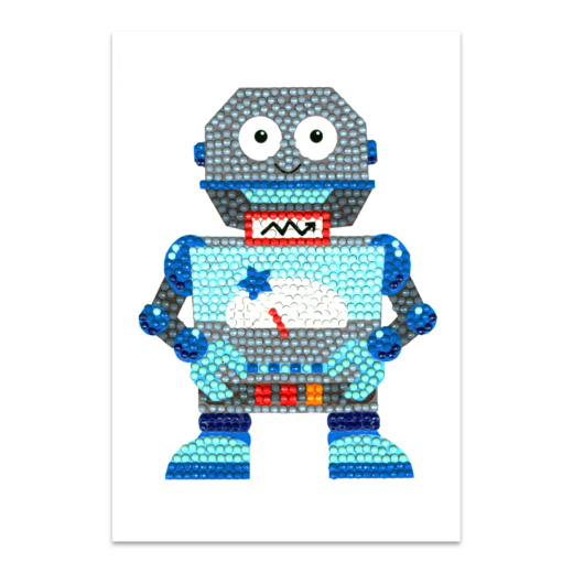 56225 Craft Artist Diamond Art Card Kits - Robot.