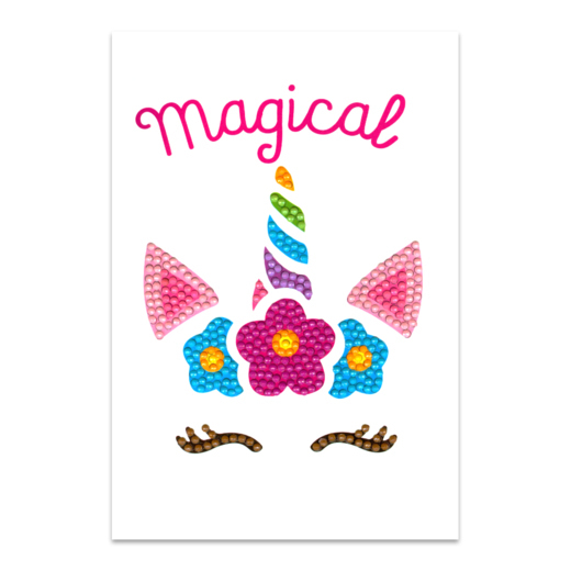 56228 Craft Artist Diamond Art Card Kits - Unicorn Magical.
