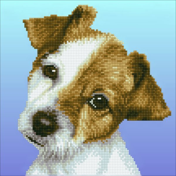 56501 DIAMOND ART - 30.48x30.48cm Kits Puppy (50462).