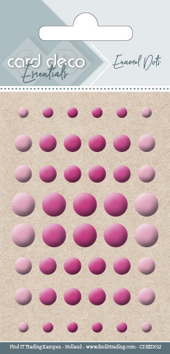 56869 Card Deco Essentials - Enamel Dots Bright Pink (CDEED012).