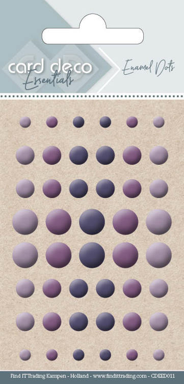 56870 Card Deco Essentials - Enamel Dots Purple (CDEED011).
