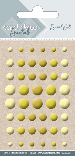 56871 Card Deco Essentials - Enamel Dots Yellow (CDEED007).