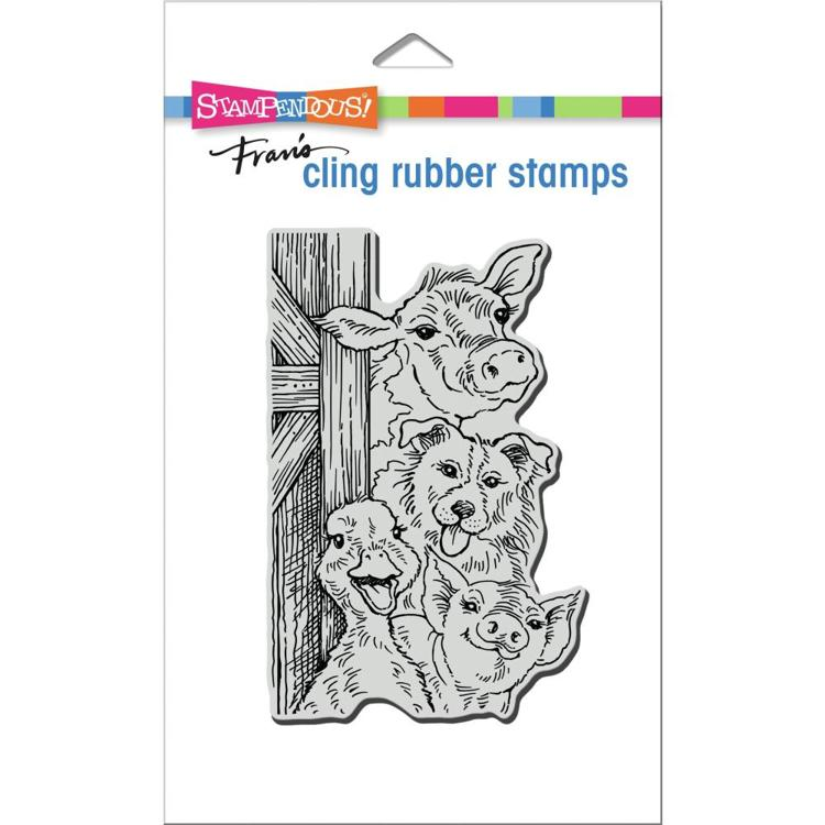 56889 Stampendous Cling Stamp Funny Farm (CRP354).