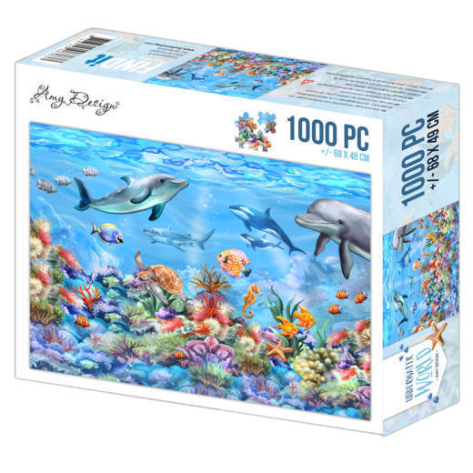 56904 Jigsaw Puzzle 1000 pc - Amy Design - Underwater World (ADPZ1004).