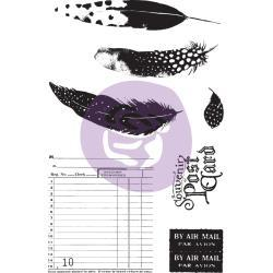 56927 Prima Marketing Midnight Garden Cling Rubber Stamps & Stencil (636074).