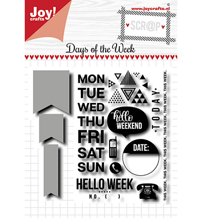 57176 Joy Crafts Noor - Days of the Week (6004/0036).