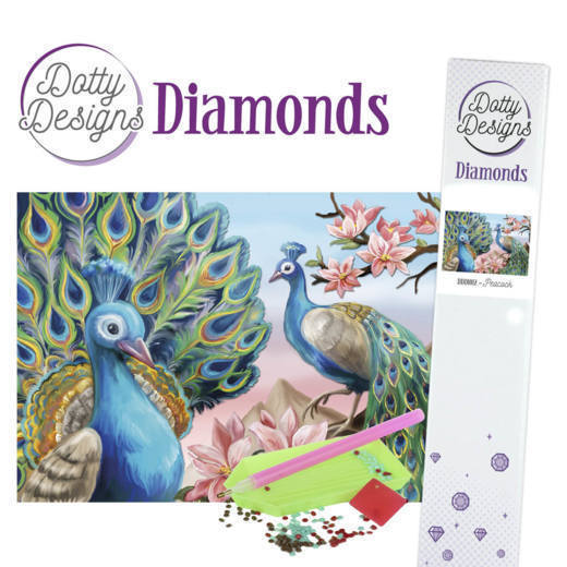 57312 Dotty Designs Diamonds - Peacock (DDD1012).
