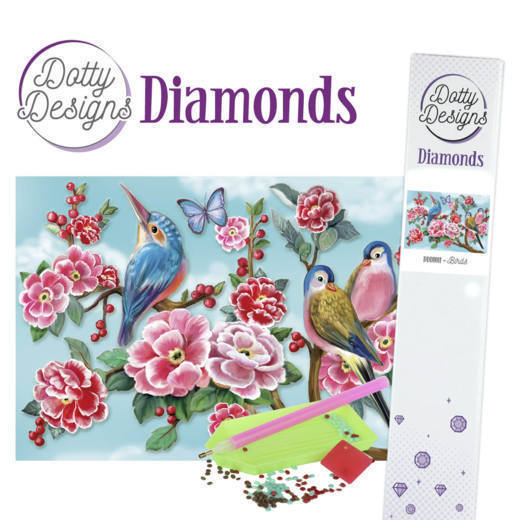 57313 Dotty Designs Diamonds - Birds (DDD1011).