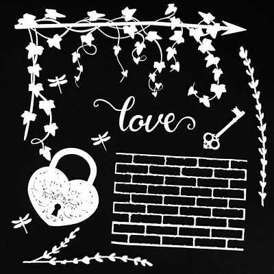 "57329 49 And Market Archival Chipboard 6""X6"" Love (AB86 707)."
