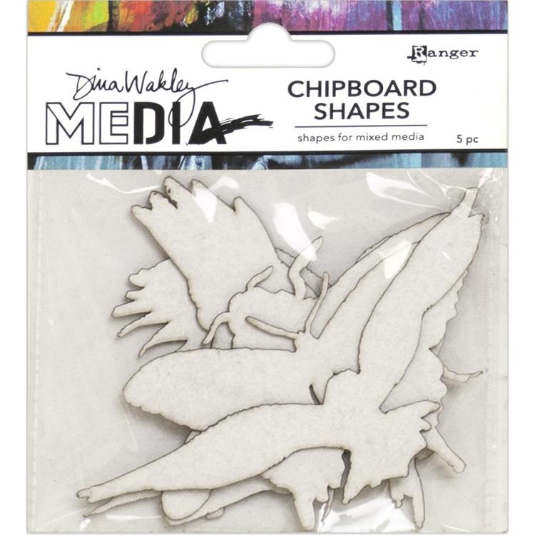 57331 Dina Wakley Media Chipboard Shapes Flying (MDA69270).
