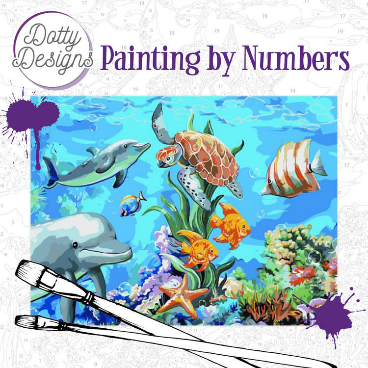 57977 Dotty Design Painting by Numbers - Underwater World (DDP1008).