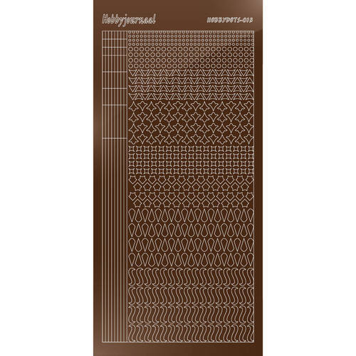 57982 Hobbydots sticker - Mirror - Brown Serie 013.