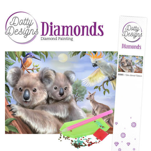 57983 Dotty Designs Diamonds - Wild Animals Outback.