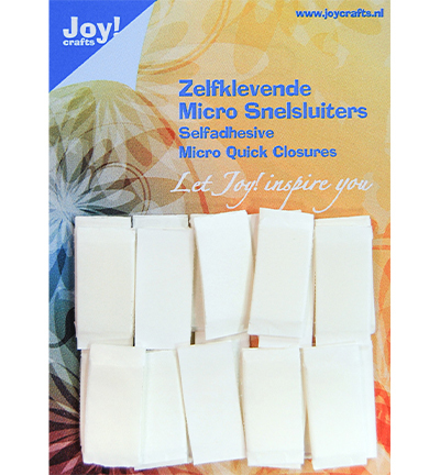 58075 Joy Crafts Zelfklevende Micro Snelsluiters 24 st/pc, 10x25 mm (6500/0090).