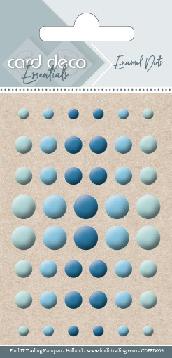 58131 Card Deco Essentials - Enamel Dots Blue (CDEED009).