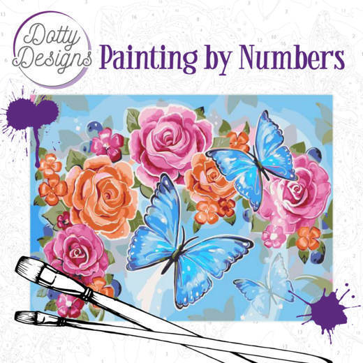 58178 Dotty Design Painting by Numbers - Butterflies Omschrijving DDP1002.