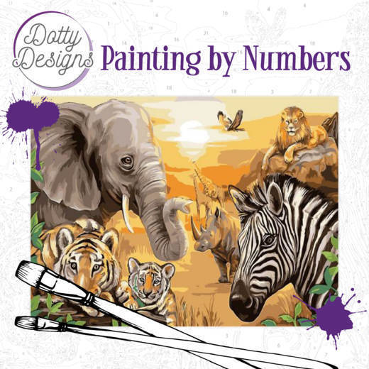 58179 Dotty Design Painting by Numbers - Safari (DDP1001).