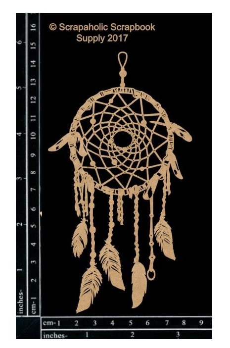 "58319 Scrapaholics Laser Cut Chipboard 1.8mm Thick Dream Catcher Small, 6""X3.25""."