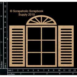 "58322 Scrapaholics Laser Cut Chipboard 1.8mm Thick Basic Window, 4/Pkg, 5""X4""."