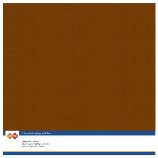 58433 Linnen Karton Scrap 10 Vel 240 Grams Brown.