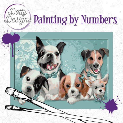58513 DDP1005 Dotty Design Painting by Numbers - Dogs.