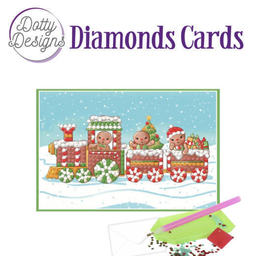 58517 DDDC1009 Dotty Designs Diamonds Cards - Christmas Train.