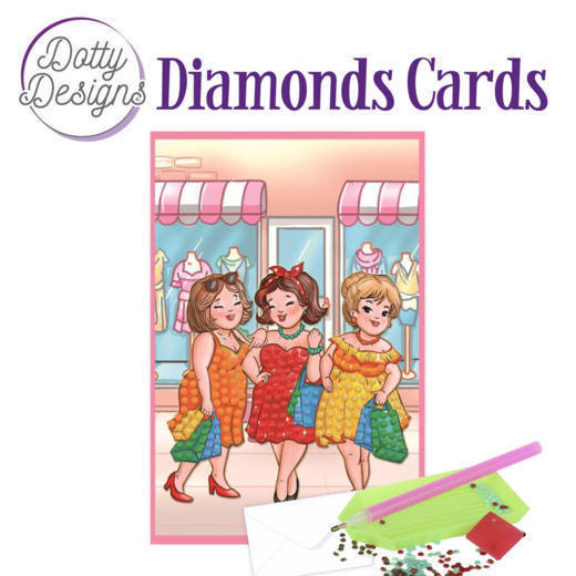 58519 DDDC1007 Dotty Designs Diamonds Cards - Bubbly Girls Shopping.