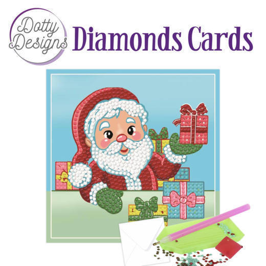 58522 DDDC1004 Dotty Designs Diamonds Cards - Santa.