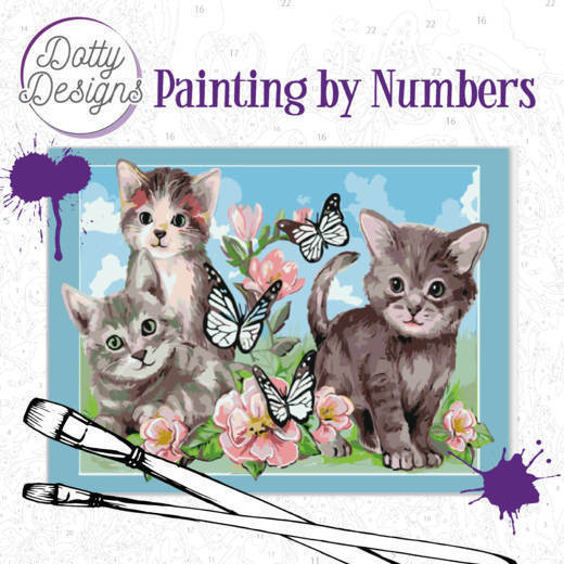 58585 DDP1006 Dotty Design Painting by Numbers - Cats.