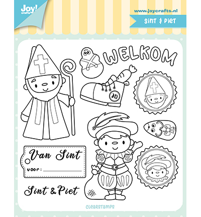 58653 Joy Crafts Clearstempel - Jocelijne - Sint & Piet (6410/0524).