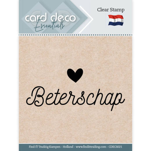 58752 Card Deco Essentials - Clear Stamps - Beterschap (CDECS021).