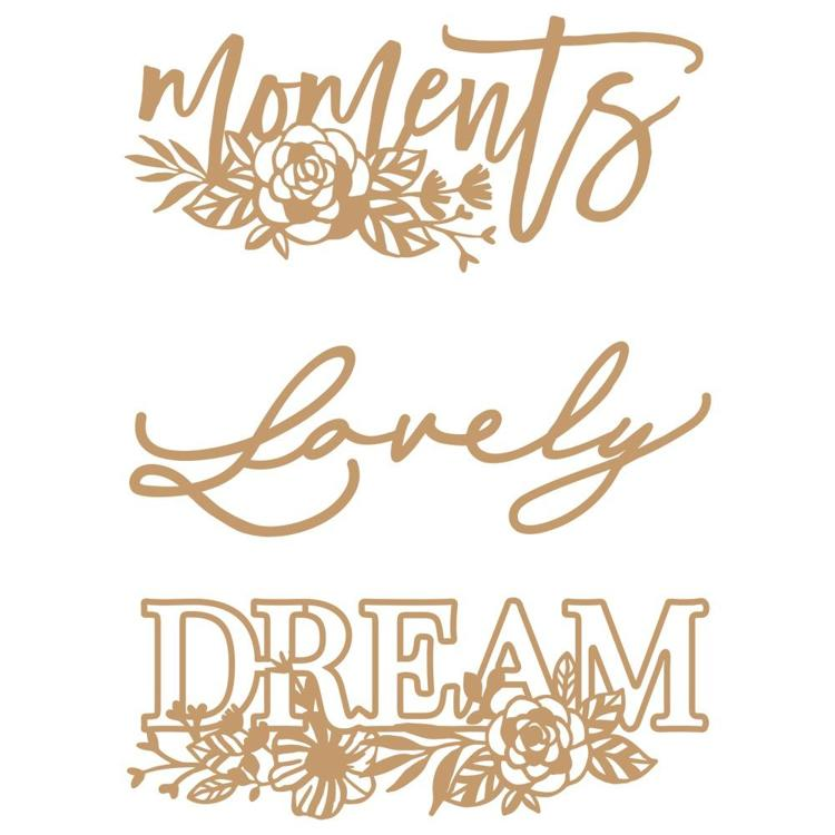 58942 Prima Marketing Laser Cut Chipboard Words To Live By 2 (647407).