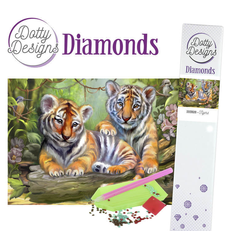 58989 DDD1020 Dotty Designs Diamonds - Tigers.