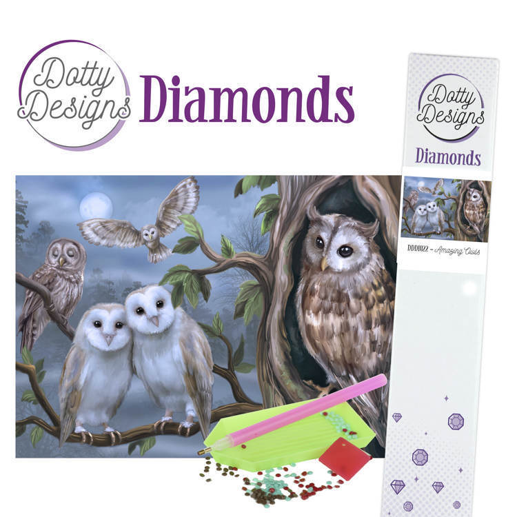 58990 DDD1022 Dotty Designs Diamonds - Amazing Owls.