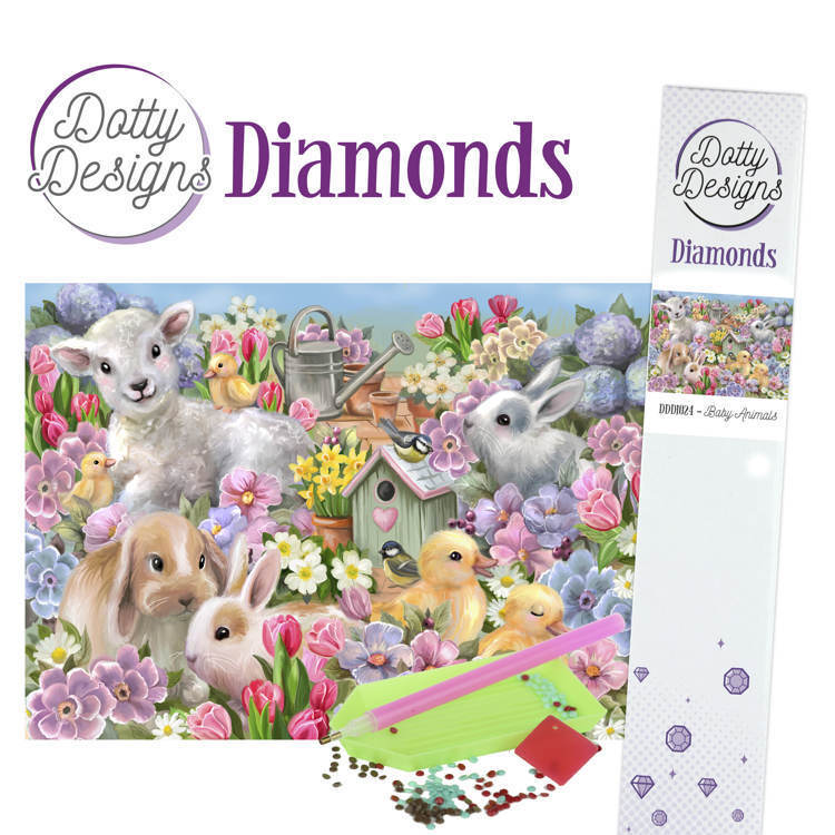59180 DDD1024 Dotty Designs Diamonds - Baby Animals.