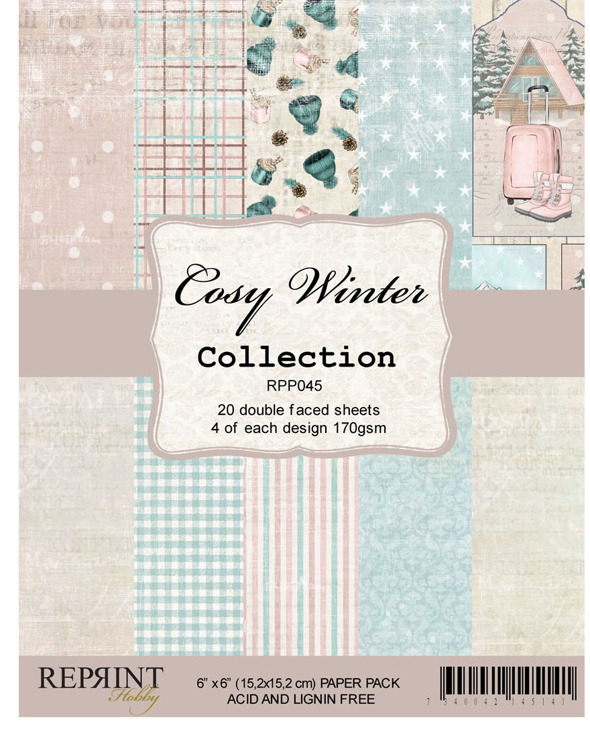 59210 Reprint RPP045 Cozy Winter CollectionPaperpack size 6x6 170gsm.