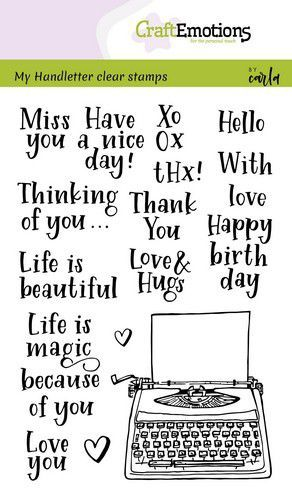 59223 CraftEmotions Clearstamps A6 - Handletter - Typewriter Quotes (Eng) (130501/1820).