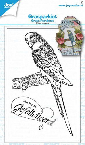 59329 Joy! Crafts Clear Stempel - Geertje - Grasparkiet (6410/0536).