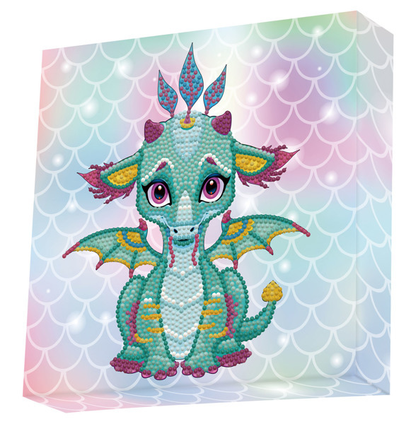 59403 DBX.010 DOTZ® - BOX Diamond Dotting kit - 22x22cm - Ariel the Baby Dragon.