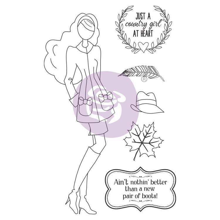 59537 Prima Marketing Julie Nutting Mixed Media Cling Rubber Stamp Jessi (913236).