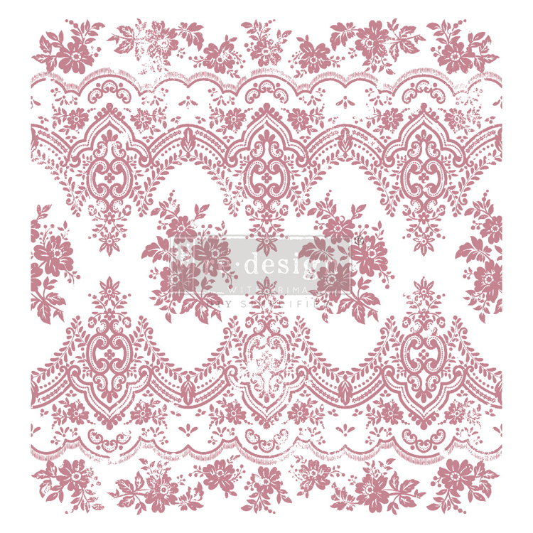 59542 Re-Design with Prima Decor Clear-Cling Stamps 12x12 Inch Vintage Wallpaper (649289).