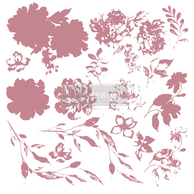 59543 Re-Design with Prima Decor Clear-Cling Stamps 12x12 Inch Sweet Blossoms (649425).