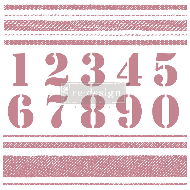 59544 Re-Design with Prima Decor Clear-Cling Stamps 12x12 Inch Stripes (649210).