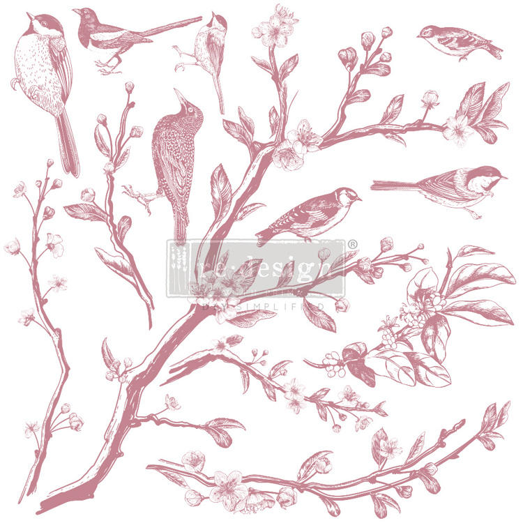 59545 Re-Design with Prima Decor Clear-Cling Stamps 12x12 Inch Springtime (649258).