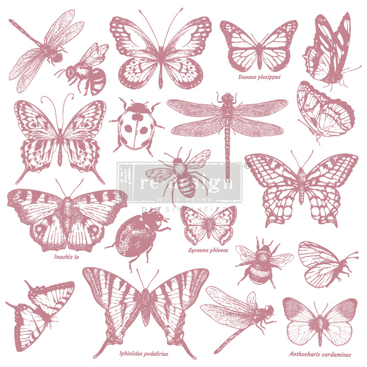 59547 Re-Design with Prima Decor Clear-Cling Stamps 12x12 Inch Monarch Collection (650087).