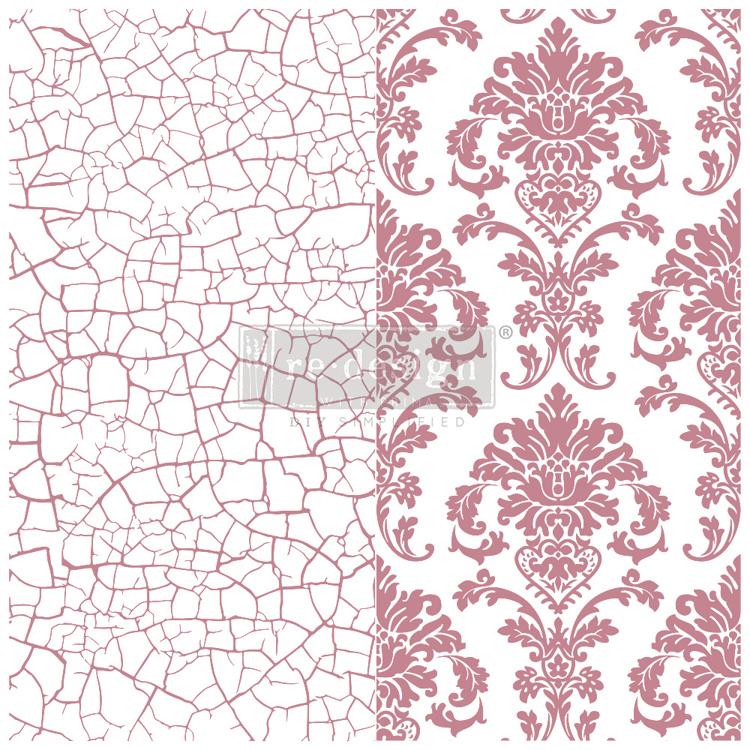 59549 Re-Design with Prima Decor Clear-Cling Stamps 12x12 Inch Imperial Crackle (650094).