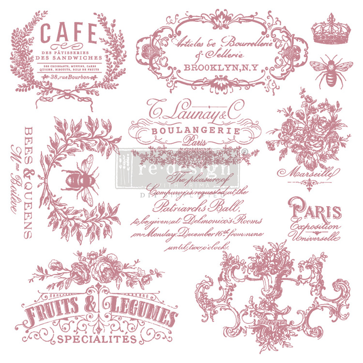 59550 Re-Design with Prima Decor Clear-Cling Stamps 12x12 Inch I See Paris (650124).
