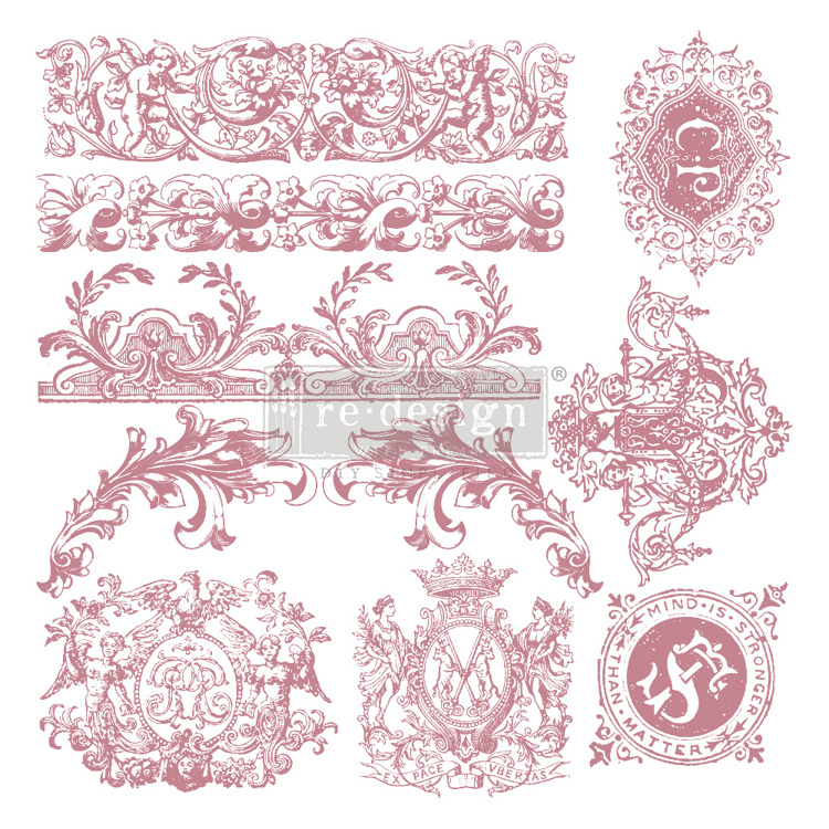 59554 Re-Design with Prima Decor Clear-Cling Stamps 12x12 Inch Chateau De Saverne (650100).