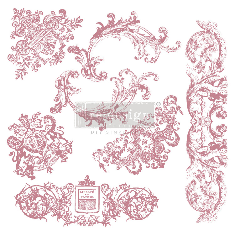 59555 Re-Design with Prima Decor Clear-Cling Stamps 12x12 Inch Chateau De Maisons (650117).