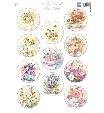 59629 Marianne Design Mattie's Mini's  Flowers (MB0190).